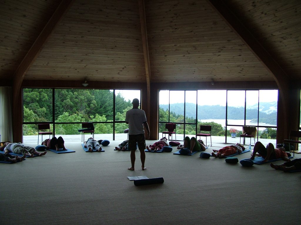view of a meditation room