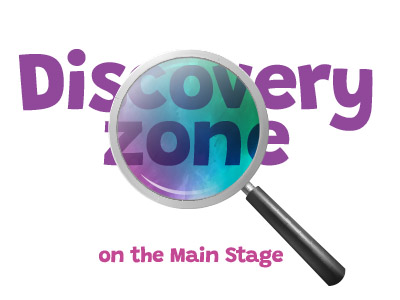 Discovery zone graphic white with colour